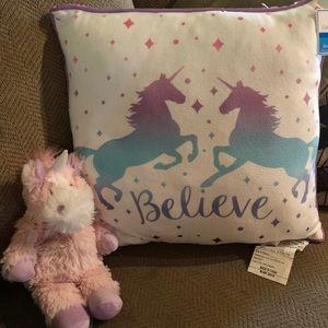 Unicorn pillow and stuffy
